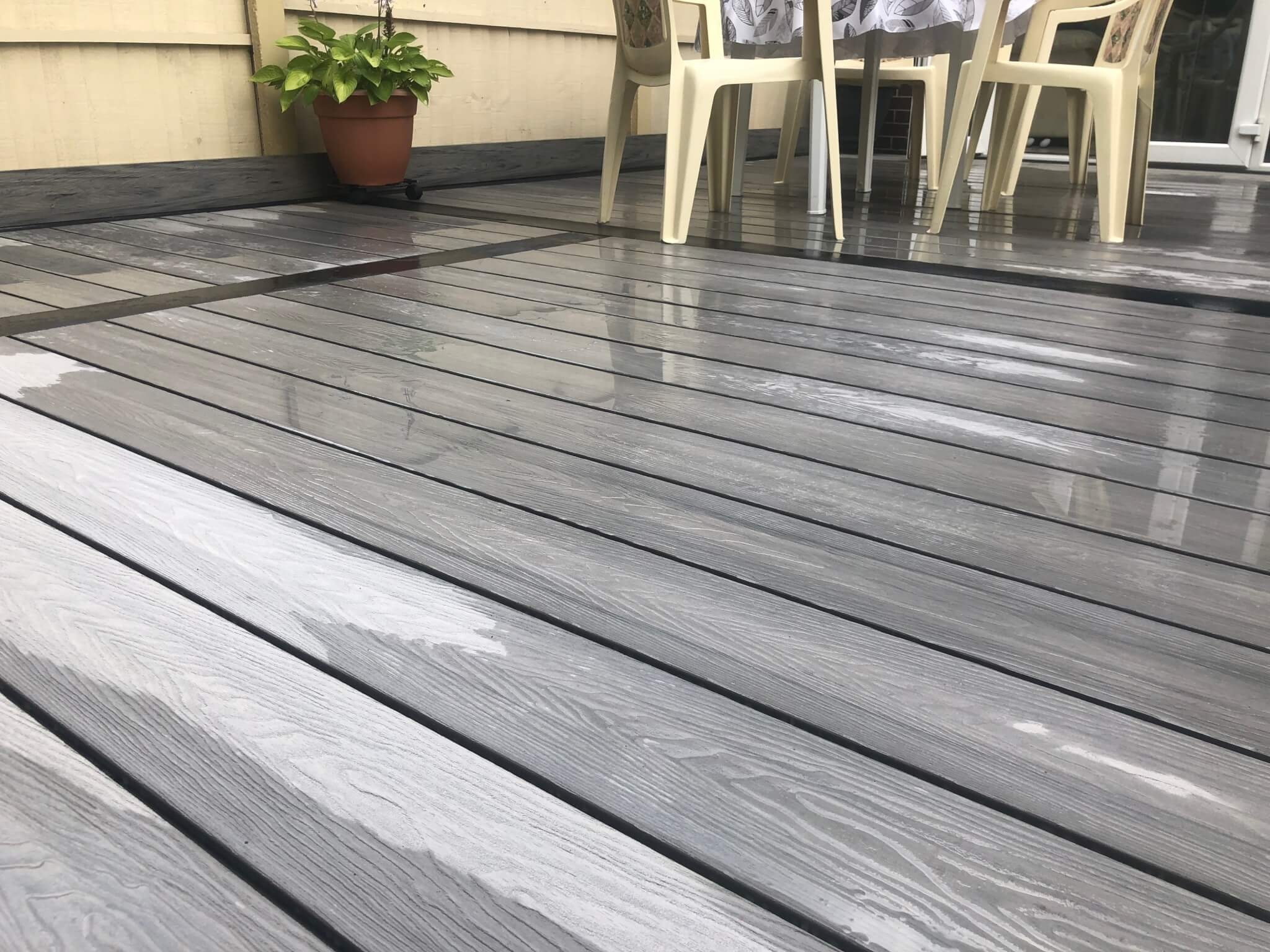 Grey Composite Decking With Black Borders Liverpool Abel